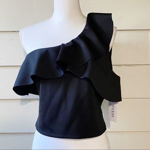 Guess One Shoulder Molly Crop Top